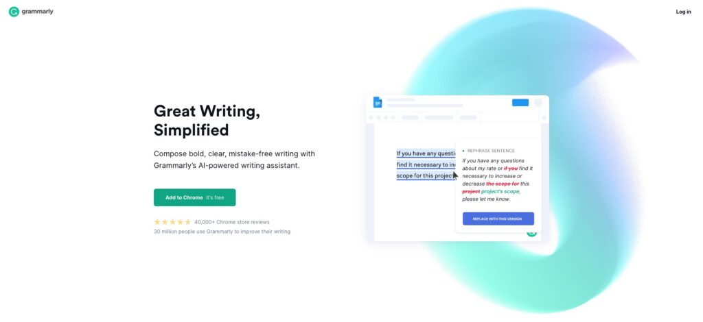 Grammarly - AI writing assistant